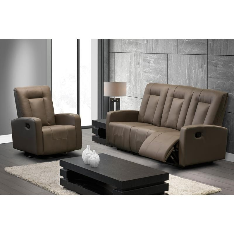 Elran Reclining Leather Look Sofa L0256-L6-1955